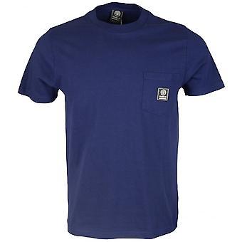 Franklin & Marshall Mf358 Cotton Round Neck Badge Logo Navy T-shirt