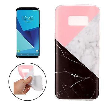 For Samsung Galaxy S8 Case,Elegant Marble Pattern Protective Cover,Black, White