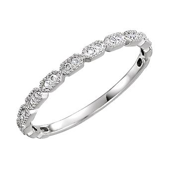 14k White Gold Size 7 .08 Dwt Diamond Ring Jewelry Gifts for Women