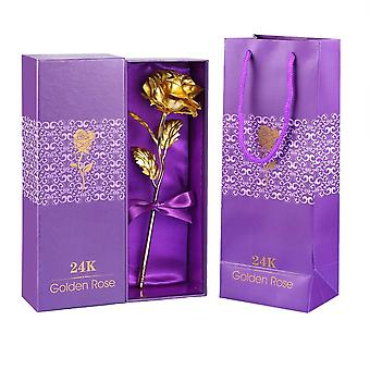 Gold Rose with Giftbox