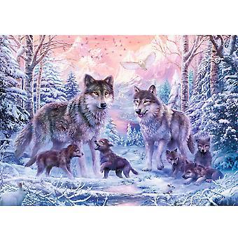 Loups arctiques de Puzzle Ravensburger 1000 pièces