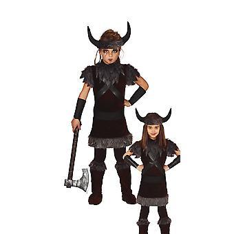 Meisjes Viking Fancy Dress Kostuum Nordic Warrior
