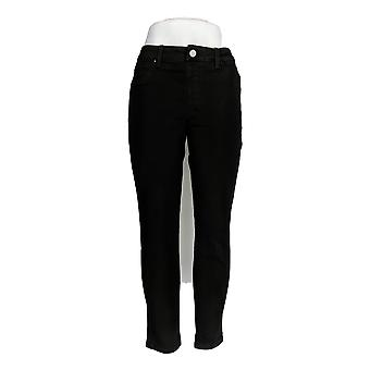 Laurie Felt Women's Jeans Silky Colored Skinny Ankle Pull-On Black A301508