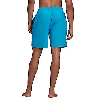 adidas Performance Mens Three Stripe Swimwear Swimming Shorts - Blue