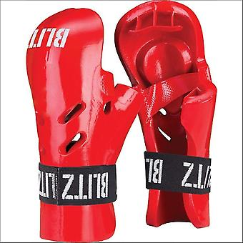 Blitz sports dipped foam tag gloves - red