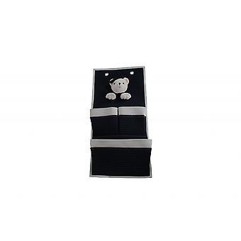 3 Pocket Storage Teddy Bear Wall Hanger