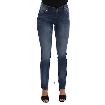 Versace Jeans Blue Wash Cotton Stretch Slim Fit Jeans