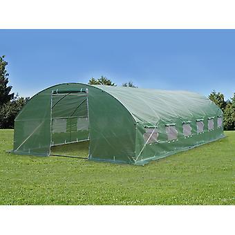 Polytunnelin kasvihuone 4x8x2 m, 32 m², Vihreä