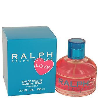 Ralph Lauren kærlighed af Ralph Lauren Eau De Toilette Spray (2016) 3,4 oz/100 ml (kvinder)