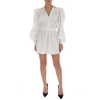 Amen Ams20423001 Femme-apos;s Robe en coton blanc