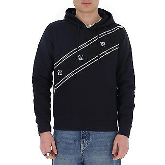 Fendi Faf534aay9f0wwu Män's Blue Cotton Sweatshirt