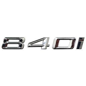 Silver Chrome BMW 840i Car Model Rear Boot Number Letter Sticker Decal Badge Emblem For 8 Series G14 G15 G16