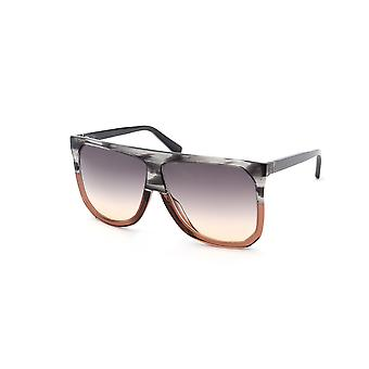 Loewe Filipa LW40001I 20B Striped Grey/Brown Gradient Sunglasses