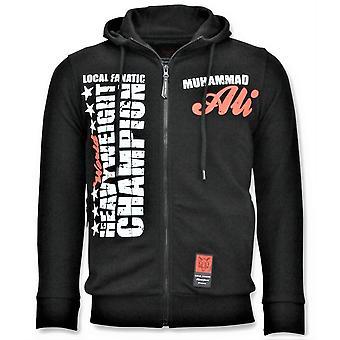 Sport Weste - Muhammad Ali Champion Print - schwarz