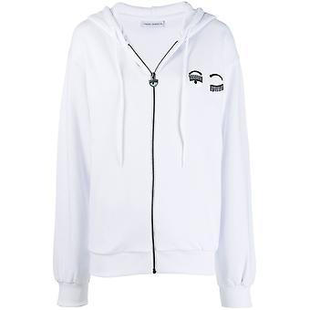 Chiara Ferragni Cff077wht Women's White Cotton Sweatshirt