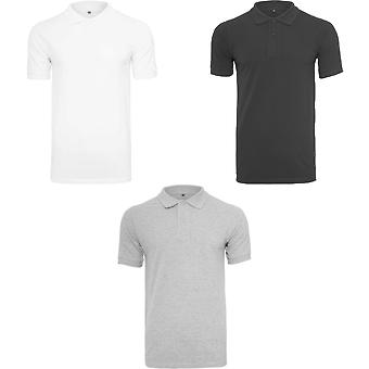 Build Your Brand Mens Pique Fitted Polo Shirt