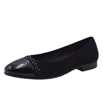 Soft Line 22166 Mallard Wide Fit Ballet Pump In Black