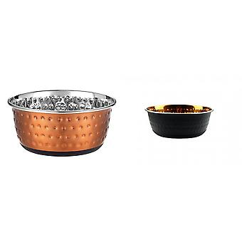 Classic Luxury Colour Embossed Dog Bowl