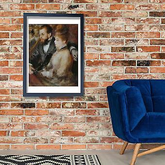 Pierre Auguste Renoir - loge de la Dans cartel impresión Giclee