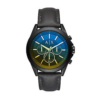 Armani Exchange Chronograph quartz men's Watch with leather band AX2613