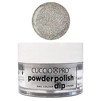 Cuccio Pro Poudre Polonais Nail Colour Dip System Poudre de trempette acrylique - Argent avec Rainbow Mica 14g ou 45g