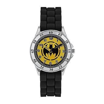 DC Comics Batman logo svart analog klocka