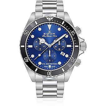 Edox - Wristwatch - Men - SkyDiver - 70s Chronograph - 10238 3NM BUI