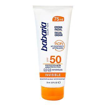 Facial Sun Cream Solar Adn Invisible Babaria Spf 50 (75 ml)