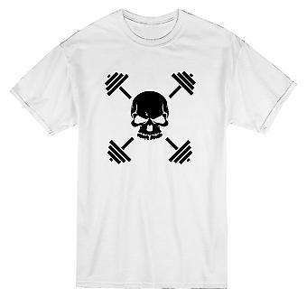 Training Gewichte Schädel Grafik Herren T-shirt