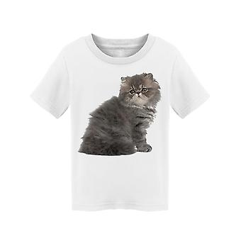 Small Cute Gray Persian Kitty Tee Toddler's -Image by Shutterstock