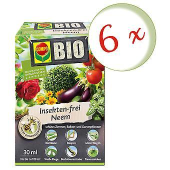 Disperso: 6 x COMPO BIO Neem libre de insectos, 30 ml