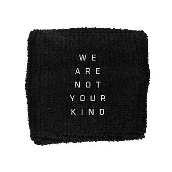Slipknot Sweatband We Are Not Your Kind Band Logo new Official Black
