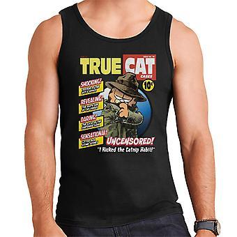 Garfield True Cat Detective Comic Book Parody Men's Vest