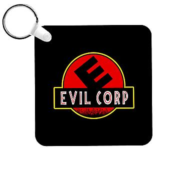 Evil Corp Jurassic Park Mr Robot Keyring