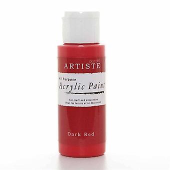 Peinture acrylique Docrafts (2oz) - Rouge foncé (DOO 763212)