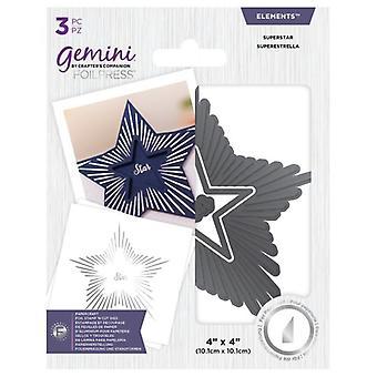 Gemini Foil Stamp 'N' Cut Elements Superstar