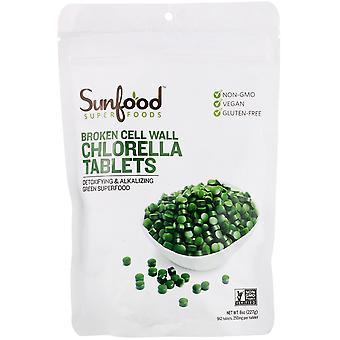 Sunfood, Broken Cell Wall Chlorella Tablets, 250 mg, 912 Tablets, 8 oz (227 g)