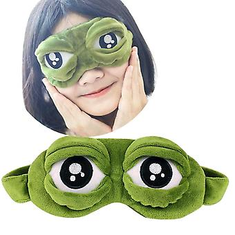 3d Sad Frog Sleep Mask For Rest - EyeLiner Eye Cover Patch For Sleeping