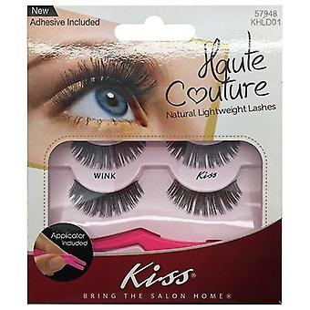 Kiss Haute Couture Natural Lightweight Lash Multipack - Wink with Applicator