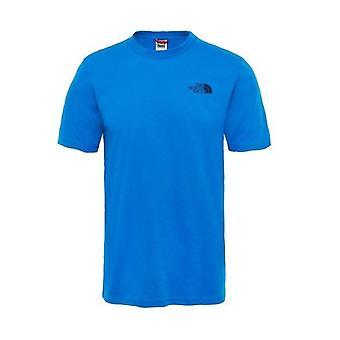 North Face Yksinkertainen Dome Miesten Muoti Rento T-paita Top Tee Royal Blue
