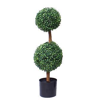80cm künstliche zwei Kugel Topiary Baum UV geschützt