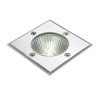 Integrated LED 1 Light Outdoor Recessed Light Brushed Stainless Steel, Glass IP67