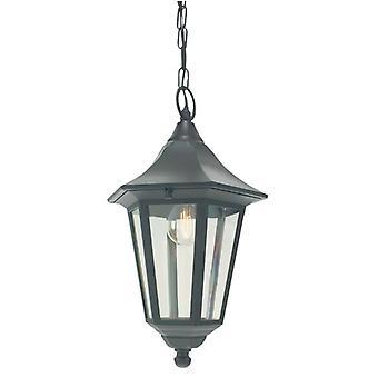 1 Light Outdoor Ceiling Chain Lantern Black IP54, E27