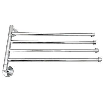Wall-mounted Stainless Steel Rotating Rack Towel Bar Polished Holder