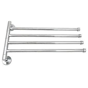 Väggmonterad Rostfri Roterande Rack Handduk Bar polerad hållare