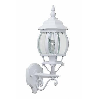 BRILLIANT lampe Istrien udendørs væglampe stående hvid | 1x A60, E27, 60W, egnet til normale lamper (medfølger ikke) | Skala