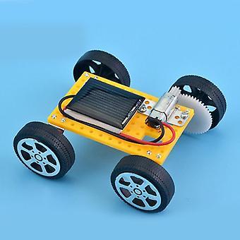 سايزي ألعاب الطاقة الشمسية للأطفال 1 مجموعة مصغرة تعمل بالطاقة لعبة السيارات الشمسية DIY للأطفال التعليمية مضحك الأداة هدية (سيارة)