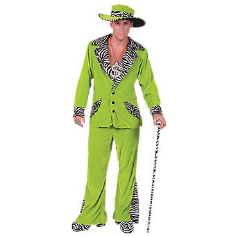 Orion kostuums mens 70s groene fluwelen Pimp Suit en gangster Hat nieuwigheid fancy dress