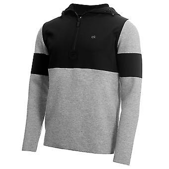 Calvin Klein Herren Yosemite Kapuzen Merino Mischung Halb Reißverschluss warmen Pullover