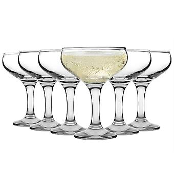 Rink Drink Vintage Glass Champagne Saucers - 200ml - Pack of 6